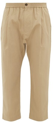 Studio Nicholson Gentile Cropped Cotton-blend Twill Trousers - Mens - Beige