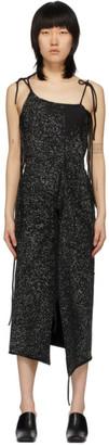Ottolinger Black and Grey Speckled Strap Dress