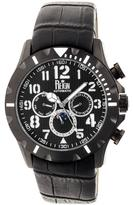 Reign Nehru Collection Men's Automatic Leather and Stainless Steel Watch