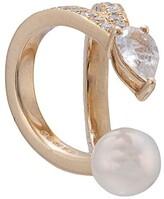 Anissa Kermiche 14kt yellow gold double pave diamond ear cuff