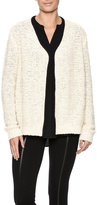 Molly Bracken Cream Black Trim Cardigan