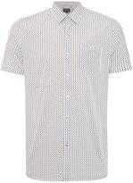 Peter Werth Men's Lowery Turner Invader Print Shirt White