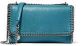 Stella McCartney The Falabella Faux Brushed-leather Shoulder Bag - Blue