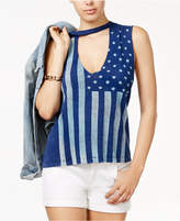 PROJECT SOCIAL T Stars & Stripes Stamped Muscle Tank Top