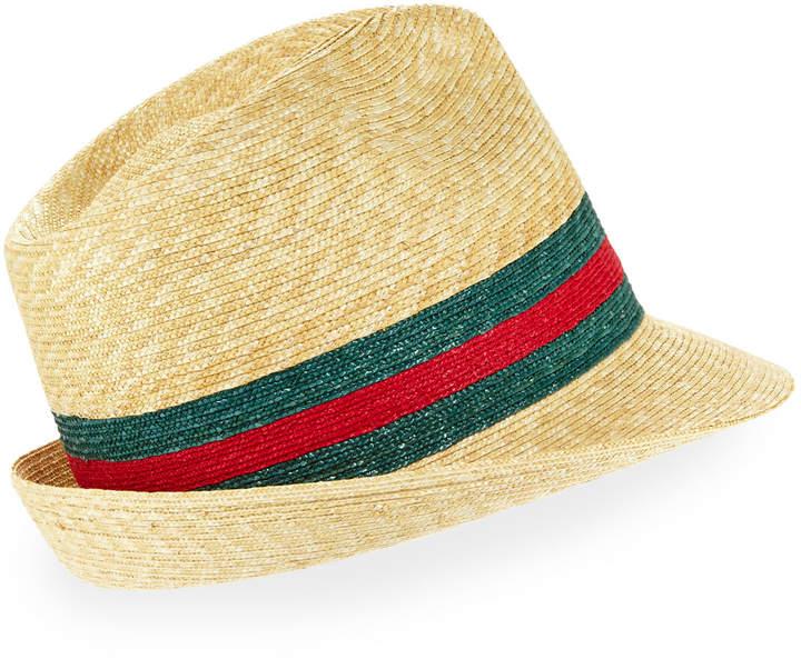 90f3a1511 Abacá Straw Fedora Hat
