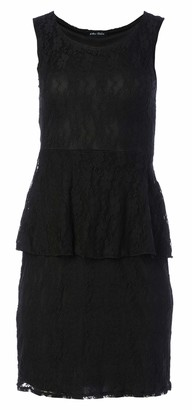 Star Vixen Women's Classic Lace Figure-Flattering Sleeveless Peplum Dress