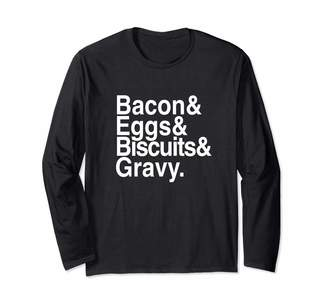Cotton Jam Bacon & Eggs & Biscuits & Gravy Long Sleeve T-Shirt