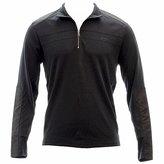 Calvin Klein Men's 1/4 Zip Interlock Sweatshirt with Nylon Details