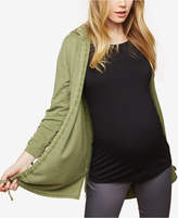 Motherhood Maternity Drawstring French Terry Jacket