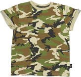 Rock Your Baby Tots Boys Army Fatigue Tee Green