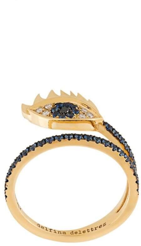 Delfina Delettrez embellished eye ring
