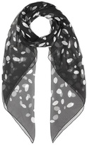 Saint Laurent Printed silk scarf