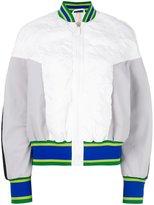 NO KA 'OI No Ka' Oi - striped detail bomber jacket - women - Polyamide/Polyester/Spandex/Elastane - XS
