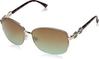 Rocawear Women's R3291 Gldts Non-Polarized Iridium Round Sunglasses