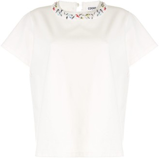Coohem textured neck T-shirt