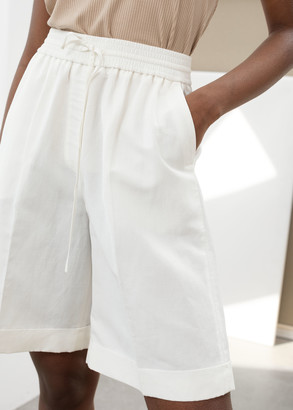 And other stories Drawstring Linen Blend Shorts