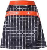Courreges plaid A-line skirt