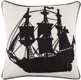 Thomas Paul Ship Crewel Pillow