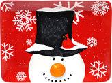 Certified International Top Hat Snowman Rectangular Serving Platter