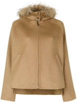 P.A.R.O.S.H. fur trim hooded jacket - women - Polyester/Wool/Marmot Fur - S