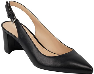 Marc Fisher Manele Leather Pointed Toe Slingback Pump