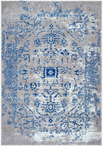 nuLoom Blue Antiqued Vintage Geometric Rug