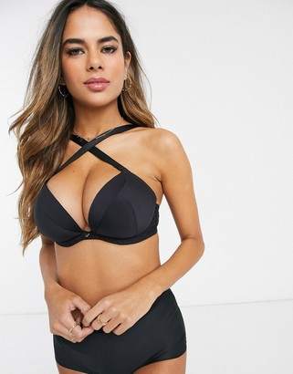 Curvy Kate multiway super plunge bra in black