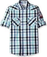 Fresh Men's Long Sleeve Two Pocket Check Shirt
