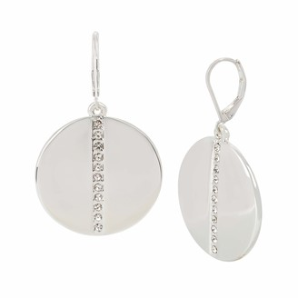 Kenneth Cole Pave Disc Drop Earrings