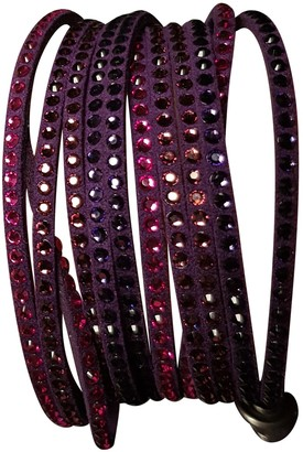 Swarovski Slake Purple Crystal Bracelets