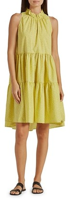 Joie Carlo Floral-Print Tiered Sleeveless Dress