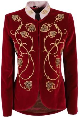 The Extreme Collection Fuchsia Embroidered Blazer Alejandra