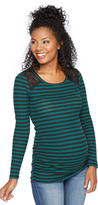 Motherhood Lace Shoulder Maternity T Shirt