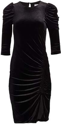 Bailey 44 Lily Ruched Velvet Dress