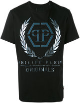 Philipp Plein classic foil logo T-shirt - men - Cotton - XXXL