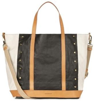 Vanessa Bruno Large Waxed Linen Cabas Tote Bag