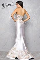 Mac Duggal Couture - 85658 Bustier Gown In Platinum