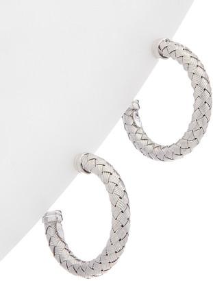 Italian Silver Weave Design Hoops