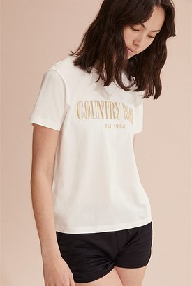 Country Road Teen Verified Cotton Luxe Heritage T-Shirt