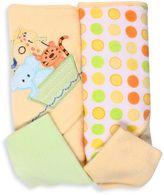 SpaSilk Ark 2-Pack Hooded Towel and Washcloth Set in Yellow