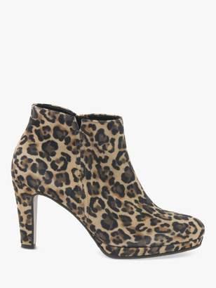 Gabor Orla Stiletto Heel Suede Shoe Boots , Multi