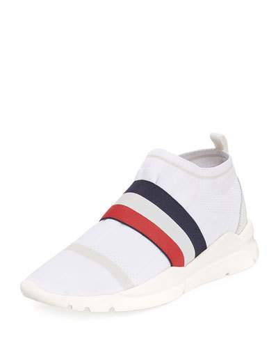 Moncler Adon Mesh-Knit Stretch-Stripe Sneaker