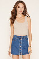 Forever 21 FOREVER 21+ Raw-Cut Racerback Crop Top
