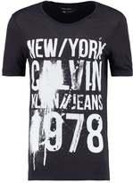 Calvin Klein Jeans Tafit Print Tshirt Black
