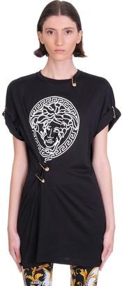 Versace Dress In Black Cotton