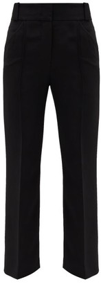 Fendi Cropped Cady Tailored Trousers - Black