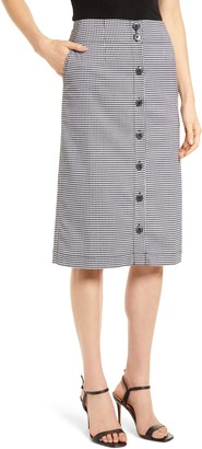 Chelsea28 Check Button Front Skirt