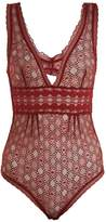 Stella McCartney Jasmine geometric-lace bodysuit