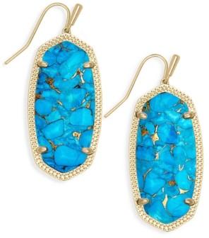 Kendra Scott Oval Stone Drop Earrings