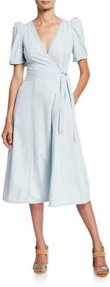 Kate Spade Denim Midi Wrap Dress